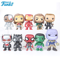 10pcs Funko POP Marvel Super Hero Avenger Iron Hulk Captain America PVC Action Figures Collectible Model Toys Gifts 25F32
