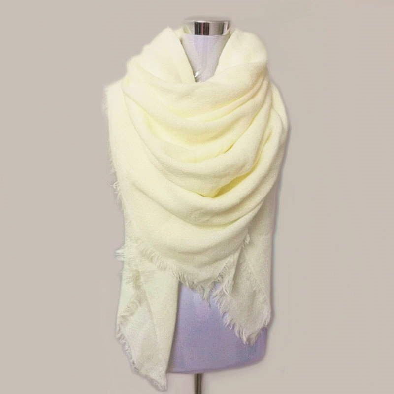 Za Solid Scarf Women Bufandas Mujer 2019 Black Fashion Warm Women Scarf Winter Scarves Wrap Shawl Blanket Scarf Luxury Brand