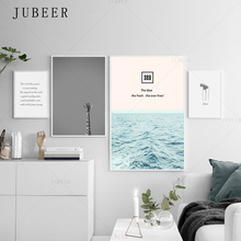 Scandinavian Style Canvas Painting Black and White Wind Poster Giraffe Sea Decoration Painting Frameless Modern Home Decoration
