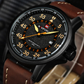 Novo NAVIFORCE Marca Luxury Leather Strap Data Relógio Analógico de Quartzo dos homens Da Moda Casuais de Esportes Relógios Homens Relógio de Pulso Militar
