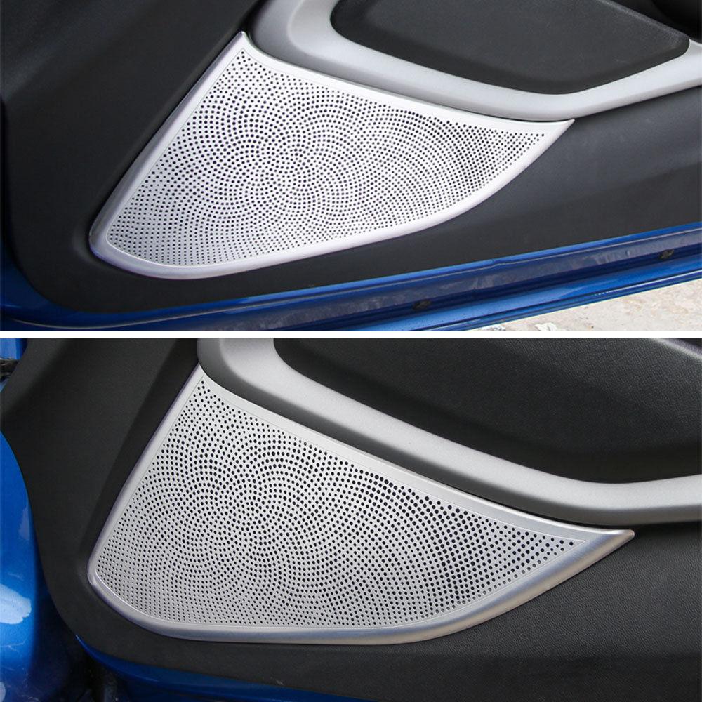 2x Inner Door Audio Speaker Stereo Aluminum Mesh Grill Cover Trim Sticker Protector Fit For Chevrolet Camaro 2017+Car Styling