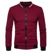Jinggton Oval 2017 Mens Long Sleeve Plaid Cardigan Zipper Sweatshirt Tops Jacket Coat Outwear Dropshiping