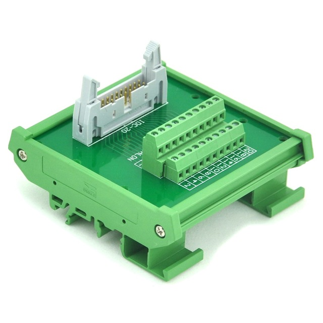 idc 20 din rail mounted interface module breakout board terminal rh aliexpress com Wire Terminal Block Connectors Telephone Connection Block