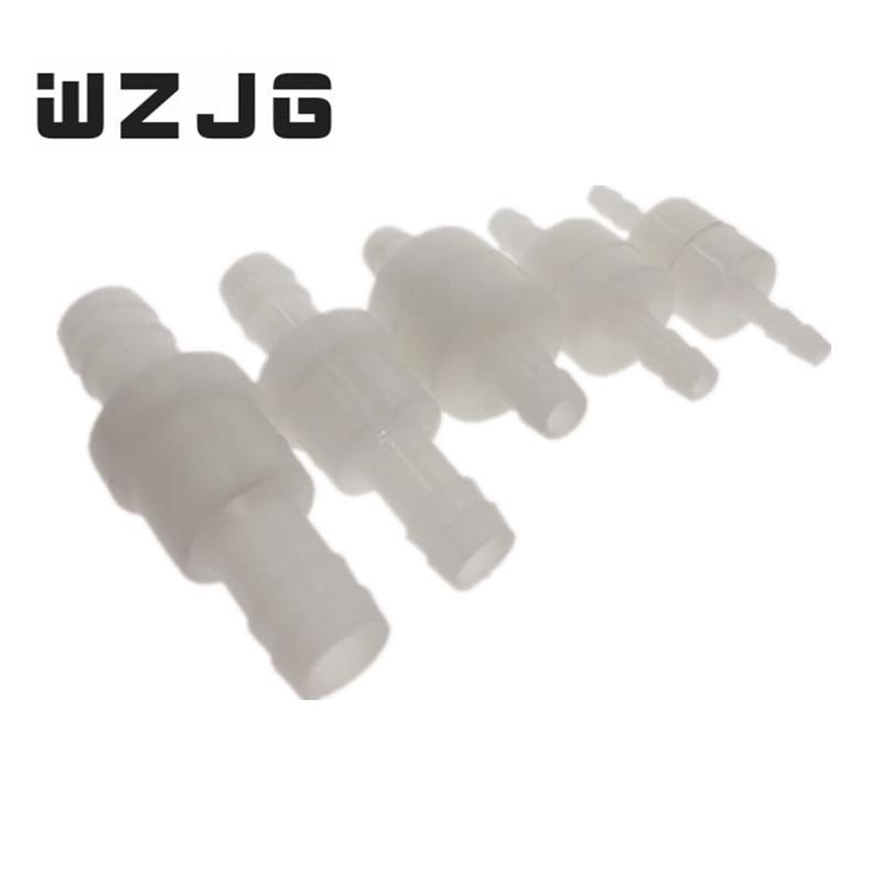 Plastic One-Way 4/6/8/10/12 Non-Return Water Inline Fluids Check Valves For Fuel Gas Liquid