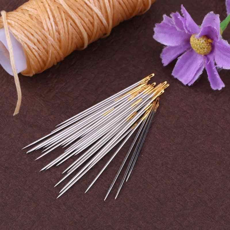 Kit de agujas de coser a mano para el hogar de 30/16 Uds., herramientas de reparación de alfombras de lona de cuero, Kit de agujas de bordado, agujas de artesanía para remendar