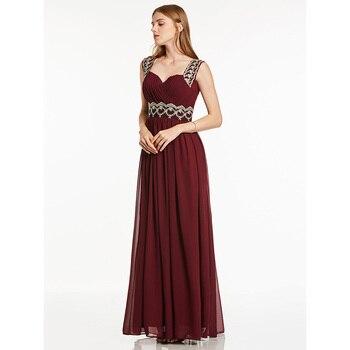Dressv burgundy beading straps long evening dress sleeveless wedding party formal dress a line evening dresses charming a line sweetheart sleeveless beading prom dress