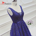 Decote quadrado Dreamlik Banquete Vestido de Noite do baile de Finalistas 2017 Loja Alibaba Atacado Azul Royal Backless Apliques Pérolas Vestidos Longos