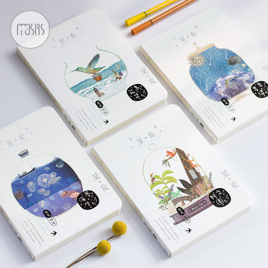 New Cute Sketchbook Drawing School Notebook 80 Sheets 100G Paper Luminous Office School Supplies Gift sosw fashion anime theme death note cosplay notebook new school large writing journal 20 5cm 14 5cm