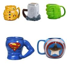 2019 Marvel Coffee Mugs Avengers Tea Cups and Mugs Batman Thor Super Man Iron Man Hulk Spider Man Captain America Ceramic Mugs
