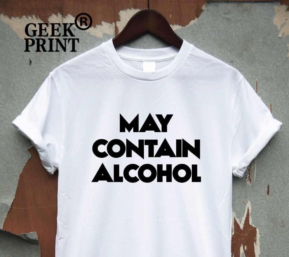 b4b629ec women May Contain Alcohol - funny saying T-shirt drinking quote sarcasm  night top Dropshipping