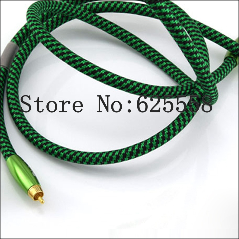 1M Hifi Silver Plated RCA Audio Cable Green RCA Interconnect Cable кабели межблочные аудио tchernov cable classic mk ii ic rca 1 65m
