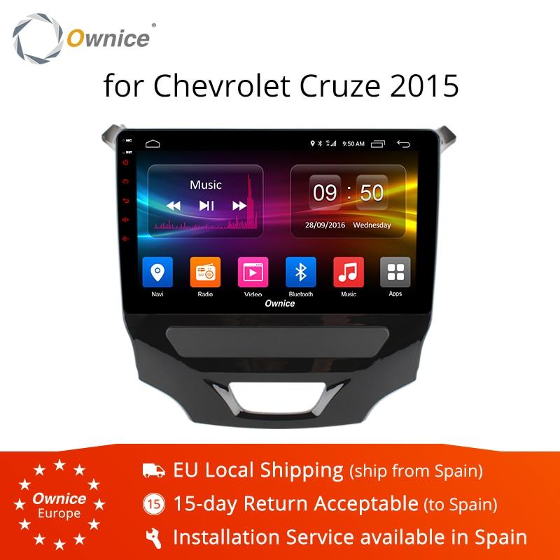 Ownice K1 K2 android 8.1 Octa core voiture DVD multimédia pour CHEVROLET CRUZE 2015 BT voiture stéréo tête unités 32G ROM 4G LTE