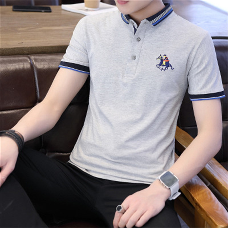 Men Polo Shirts 2018 New Summer Fashion Half Sleeve Embroidery Horse Breathable Camisa Masculina Cotton Polo Mens Plus Size 4XL 2