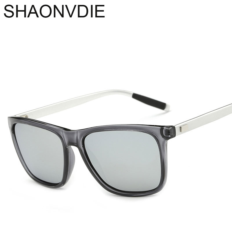 SHAOVNDIE font b Aluminum b font TR90 Sunglasses Men Polarized Brand Designer Points Women Men Vintage