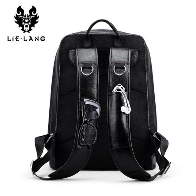 LIELANG Backpack Men 2018 Genuine Leather Mochila USB Charge Laptop Backpacks Anti-theft Backpack Tourist Boys Shoulder Bag 2