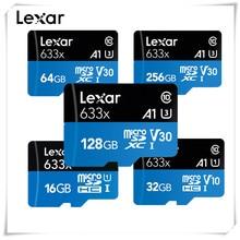 Lexar-tarjeta de memoria Micro SDXC de alta velocidad, 128GB, 256GB, 512GB, 32GB, 64GB, Clase 10, 633X, 95 M/s