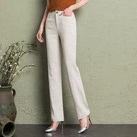 Cotton linen office lady pants women 2019 summer white Full Length Elegant Female Trousers Formal Pants Women Plus Size trousers