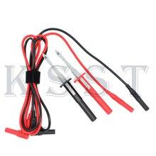 DMM02B Multimester тестовых проводов провода + тест крюк клип Черный Красный