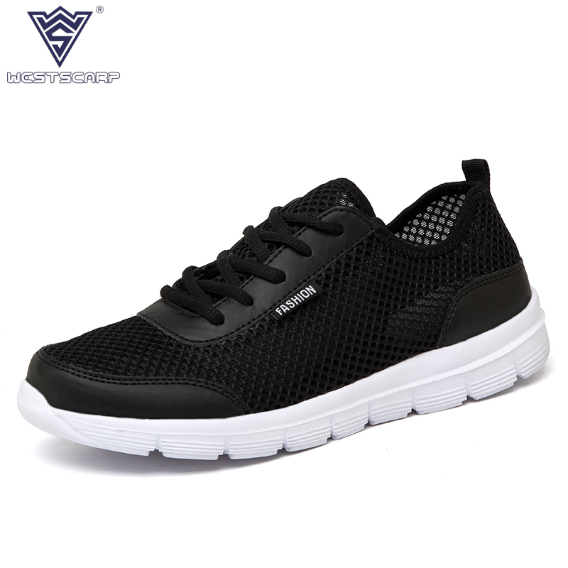 Men Shoes Summer Fashion Brand Outdoor Air Mesh Casual  Shoes Men High Quality Breathable Flats Male Sapatos Big Size 39-46 fgn men s new 2017 casual summer breathable male wear resistant mesh shoes comfort trend of male flats shoes