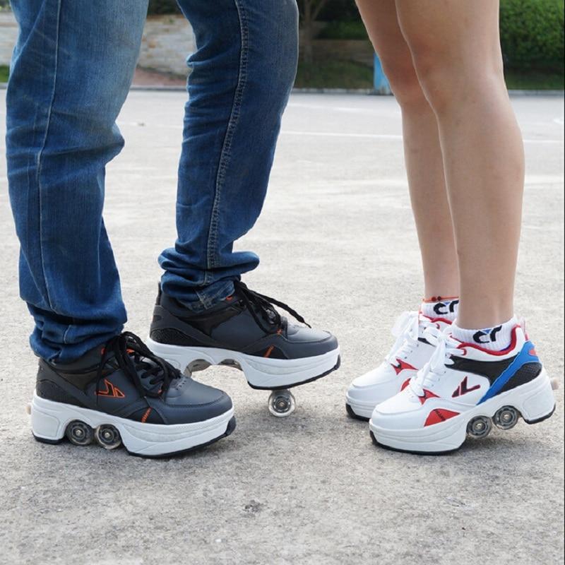 8f32f5bb0301a 2015 Popular Famous Heelys Skate Shoes Breathable Roller Skates Baozou  Adult Men   Women Shoes