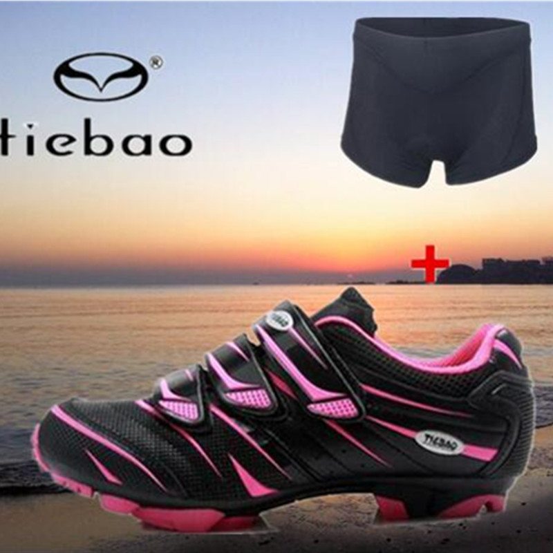 Tiebao Cycling Shoes add bike underwear Women MTB zapatillas deportivas mujer Self-Locking Bicycle Shoes Sapatilha Ciclismo