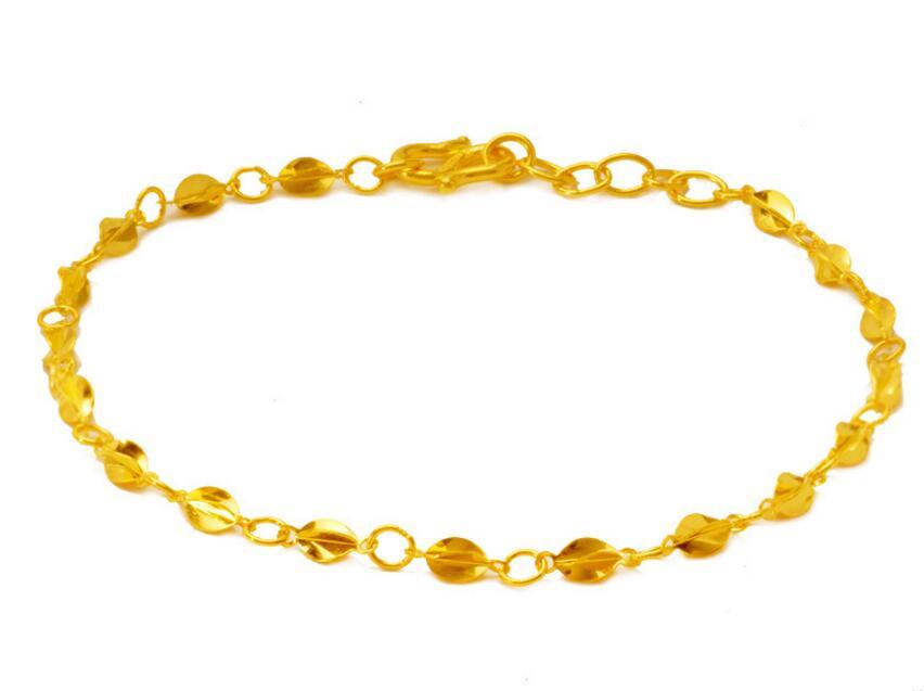 Moda puro solido 24 k oro giallo braccialetto/best farfalla carambola regolabile braccialetto 2.95g