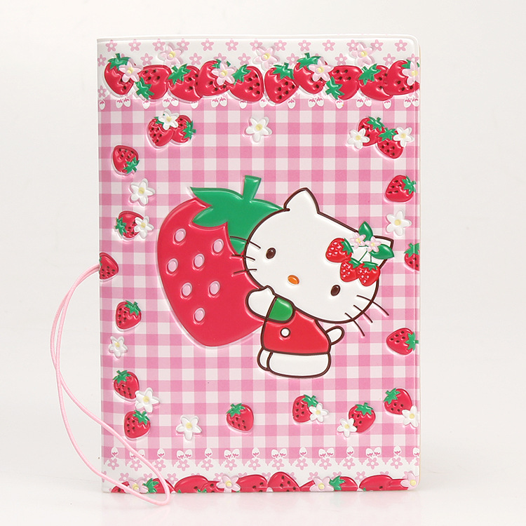 Cartoon Hello Kitty Travel Passport Cover,Business Porte Carte Simple,14*9.6CM ID Card B ...