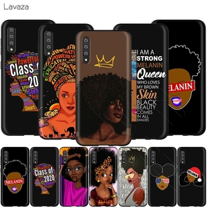 Lavaza African Afro Melanin Poppin Black Girl Case for Samsung Galaxy S6 S7 Edge J6 S8 S9 S10 Plus A3 A5 A6 A7 A8 A9 Note 8 9(China)