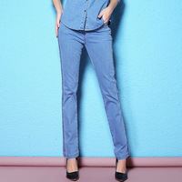 2018 Spring And Autumn Twist Twisted Narrow Leg Tight Pencil Trousers Slim Thin Jeans Large Size