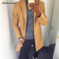 Thin Spring Trench Coat Men Fashion Casual Long Windbreaker Slim Trench Coat Plus Size Male 2019 Cardigan Jackets Outerwear 3xl
