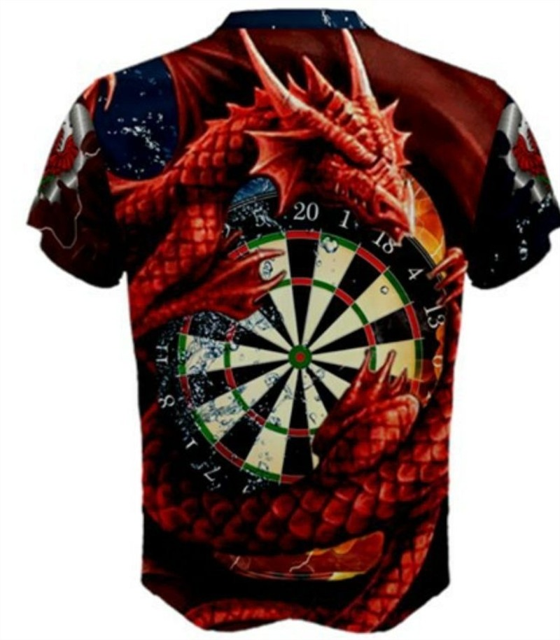 The Greatest Darts Welsh Dragon  Custom 3d T-shirt Ever Made Don/'t miss out.