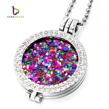 33mm Coins Disc Fashion Kolye For Women Gift Fit 35mm Coin Holder 80cm Bead Chain 19 Style Can Choose MICP01-19