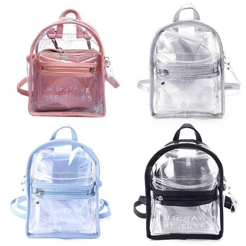 ac8af81bba78 Для женщин прозрачный желе Малый рюкзаки обувь для девочек мини прозрачный  рюкзак Лето 2018 г.