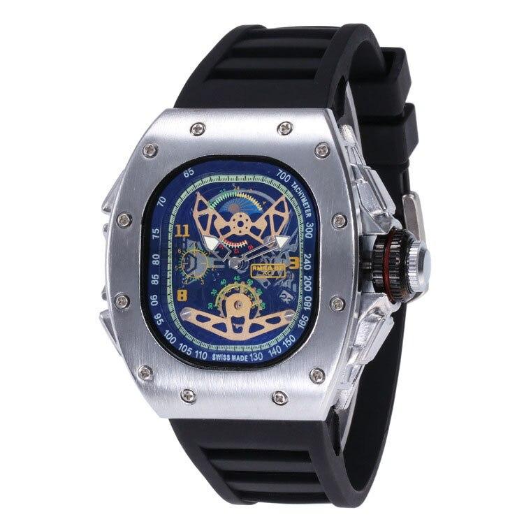Sport Men's Luxury Brand Famous Unique Designer Quartz Watch Male Silica Watches Men Relogio Masculino Stop Watch Six Needles