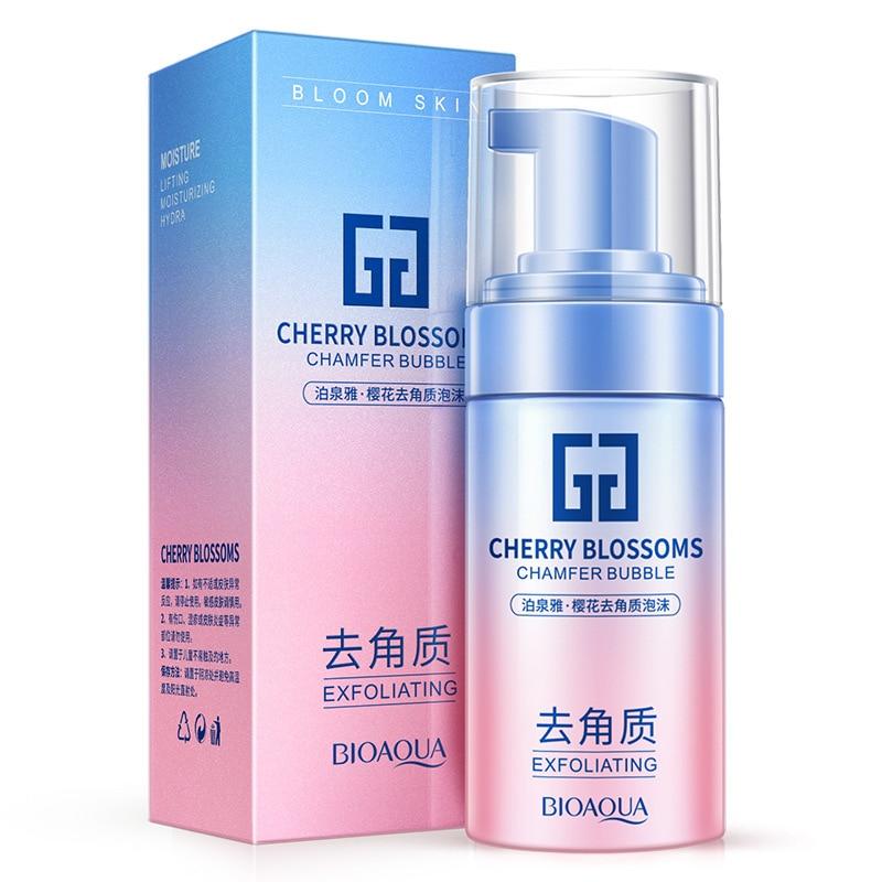 Hydration Skin Care: BIOAQUA Cherry Exfoliating Facial Cleanser Moisturzing