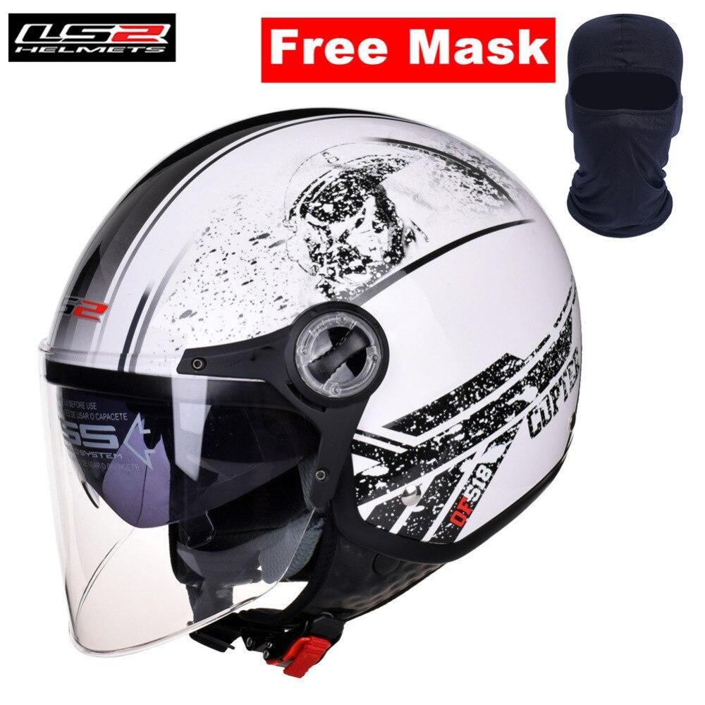 LS2 Motorrad Jet Helm Dual Visiere Open Gesicht Frauen Männer Casco Moto Casque Kask Capacetes de Motociclista mit Freies Gesicht maske