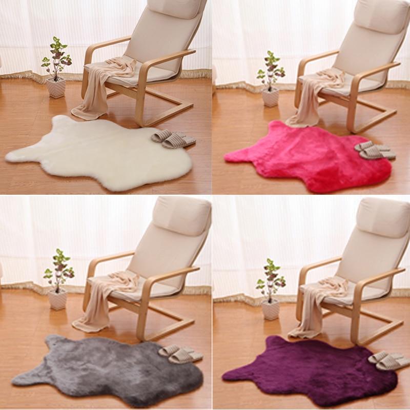 ᓂFaux Sheepskin Fluffy Fur ๏ Chair Chair Seat Sofa Cover