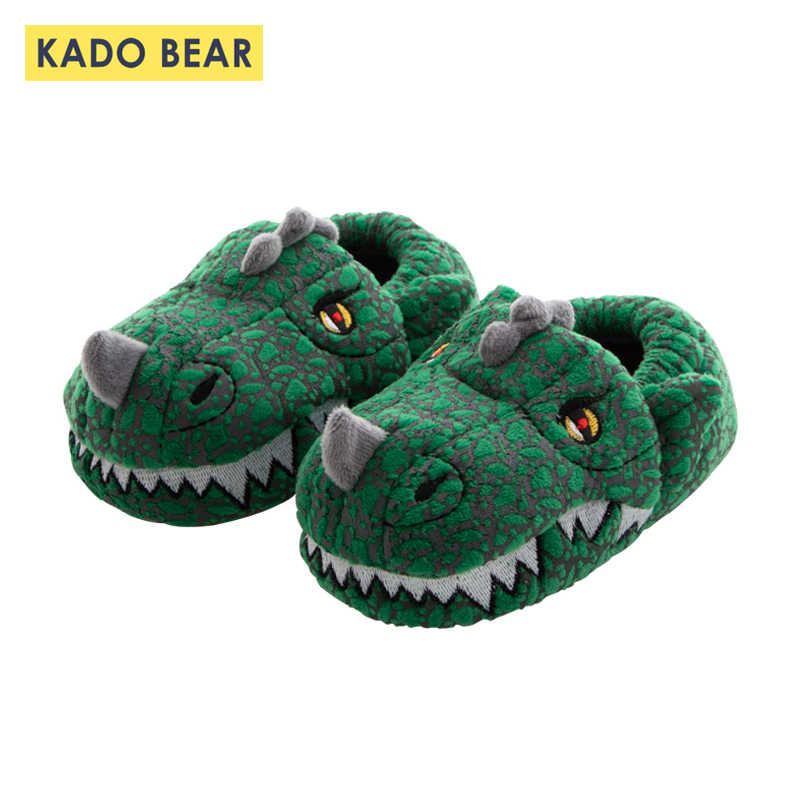 3a3e5ff2ca5 Detail Feedback Questions about Baby Boys Dinosaur Fur Plush Indoor Slippers  Kids Girls Cartoon Bunny Cotton Winter Shoes Children Warm Home Toddler  Flip ...