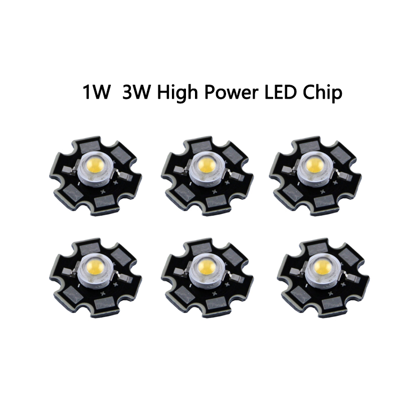1pcs/lot Epistar 3w Led  Chips Bulb Diode Lamp 3000k 6000k 10000k 440nm 620nm 660nm For Aquarium Led Light Led Grow Light