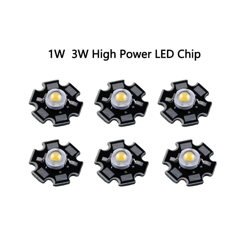 1pcs/lot Epistar 3w Led  Chips Bulb Diode Lamp 3000k 6000k 10000k 440nm 620nm 660nm For Aquarium Led Light Led Grow Light