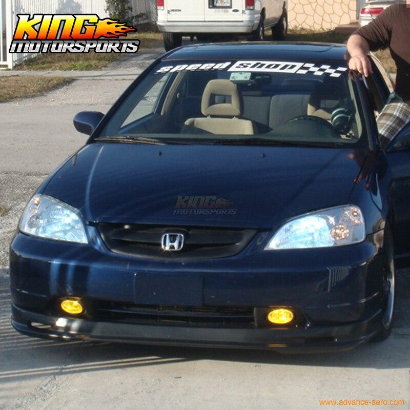 Para 2003 2004 2005 Honda Civic Si Hatchback 3dr Ep3 Front Bumper Lip  Spoiler De Uretano Em Amortecedores De Automóveis U0026 Motos No AliExpress.com    Alibaba ...