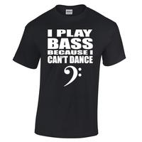 Cotton T Shirts Man Clothing Office Men O Neck Short Sleeve I Play Bass Becuase I