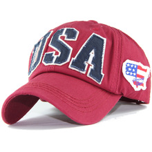 Spring new Baseball Cap men/women Snapback hat Hip Hop Fitted Cap Hats American flag embroidery Unisex sun hat USA Visor