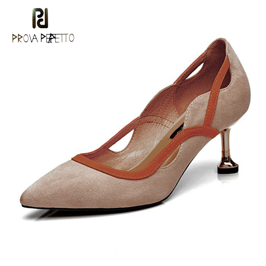 Prova Perfetto elegant office lady shoes faux suede women pumps pointed toe thin high heel dress shoes basic pumps zapatos mujer plus size ol office lady shoes faux suede high heels woman shoes pointed toe dress shoes basic pumps women boat zapatos mujer777