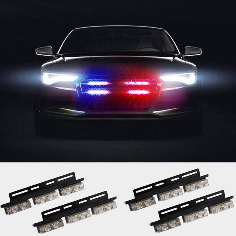 Red and Blue Car Flashing Lights Strobe LED Warning Light Car Truck Flashing Emergency Warning Lamp 12/ 24V Clearance Light