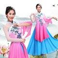 Mulheres Traje Chinês Dança Orient Guarda-chuva Nacional Roupas de Dança Yangko Traje de Dança Para O Sexo Feminino Para a Fase 16