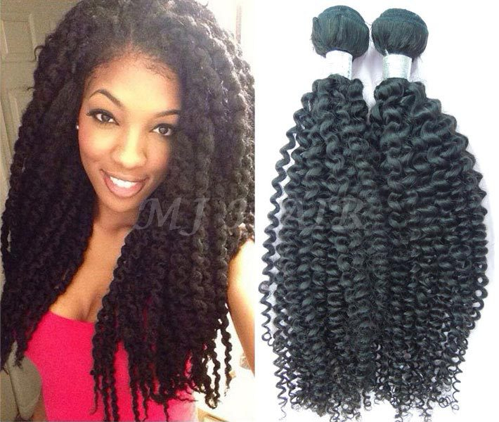 Kinky Curly Hair Weave Brazilian Hair Extension Remy Brazilian Hair