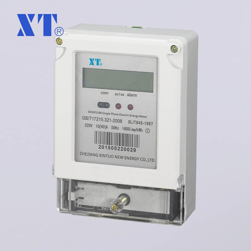 Single phase multi-function DIN rail meter, RS485 Modbus, Large LCD display tusa rs 460 din