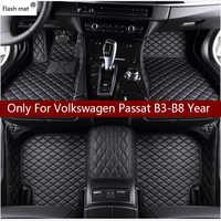 Tapis de sol de voiture en cuir de tapis Flash pour Volkswagen vw passat B3 B4 B5 B6 B7 B8 2000-2018