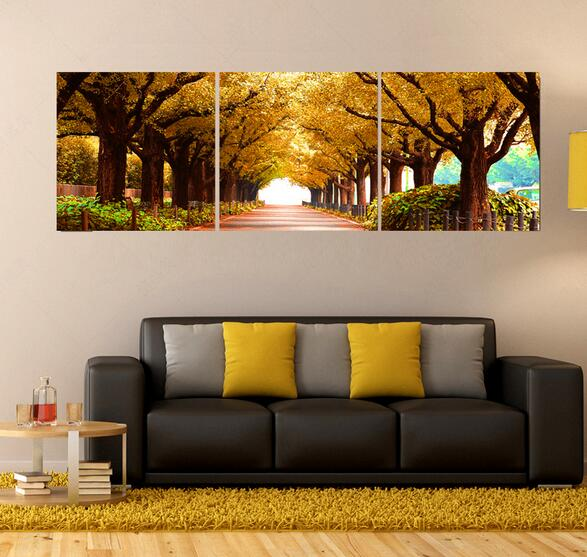 Decoration For Home For Cheap: 3pcs Tree Pictures Home Decoration Wall Paintings For